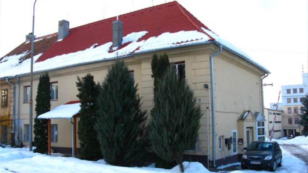 Liečivé rastliny budova predajne v zime