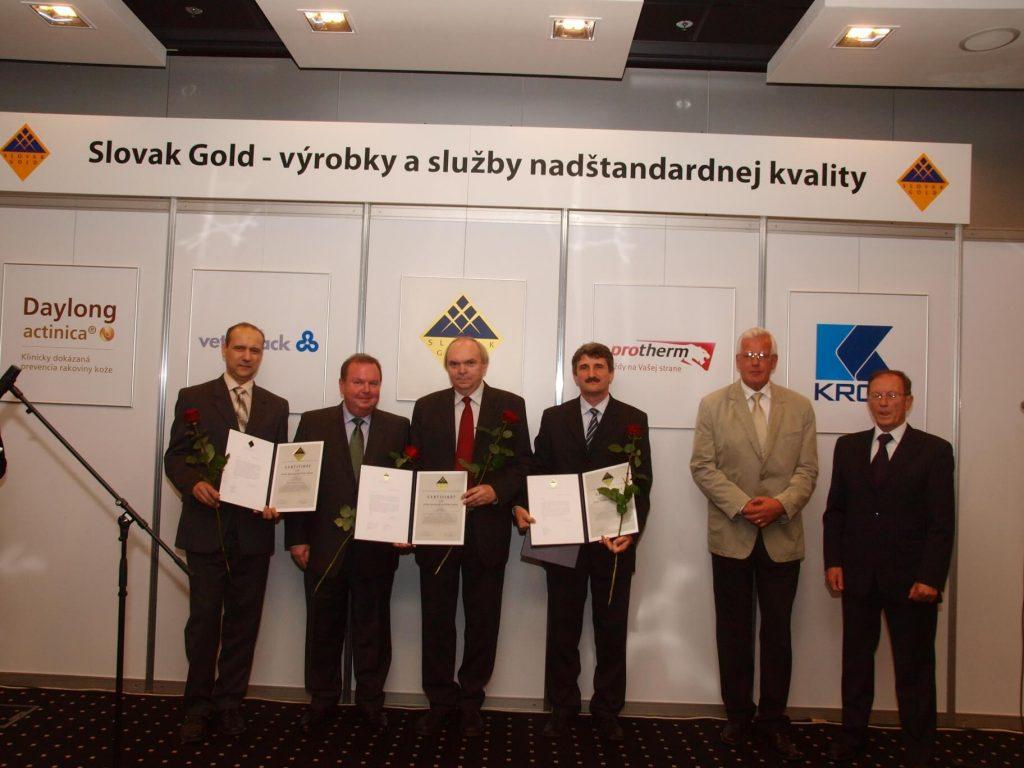 Udelenie certifikátu je ocenením našej dlhodobej snahy o výrobu kvalitných a inovatívnych výrobkov pre našich zákazníkov